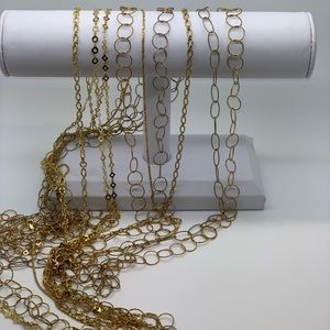 Jewelry - Sterling silver chains with gold plating